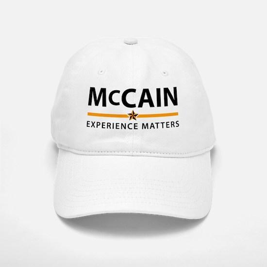 McCain: Experience Matters Baseball Baseball Cap