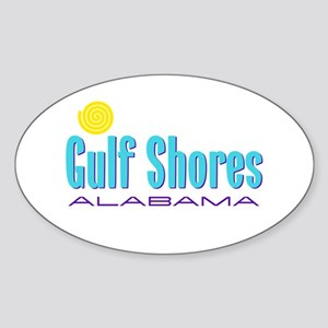 Gulf Shores - Oval Sticker