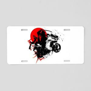 Ninja Motorcycle Aluminum License Plate
