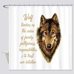 Wolf Totem Animal Spirit Guide For Shower Curtain