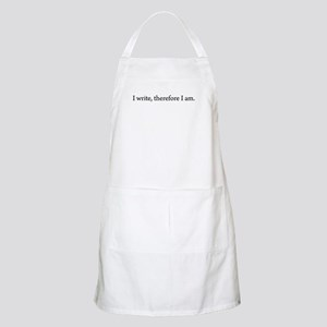 I write Therefore I am BBQ Apron