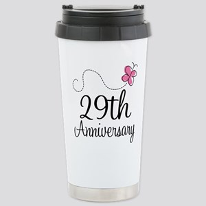 29th Anniversary Gift Butterfly Mugs