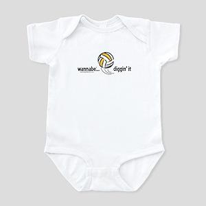 wannabe...diggin' it Infant Bodysuit