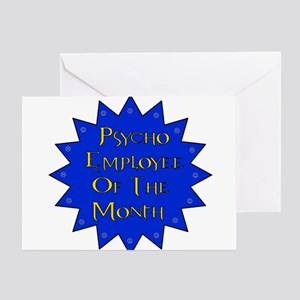 Psycho Employee Greeting Cards