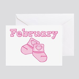 Baby Socks February Greeting Card