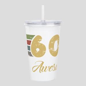 Retro 60th Birthday Acrylic Double-wall Tumbler
