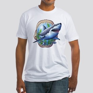 Great White 3 Fitted T-Shirt