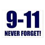 9-11 Never Forget Postcards (Package of 8)