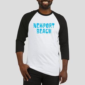 Newport Beach Faded (Blue) Baseball Jersey
