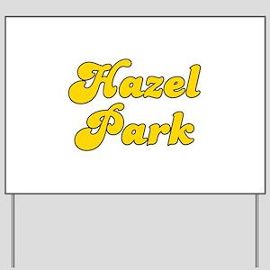 Retro Hazel Park (Gold) Yard Sign