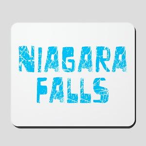 Niagara Falls Faded (Blue) Mousepad