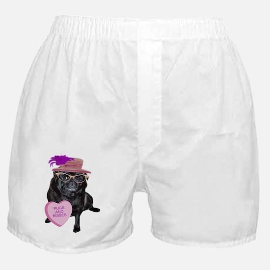 Pugs and Kisses Boxer Shorts
