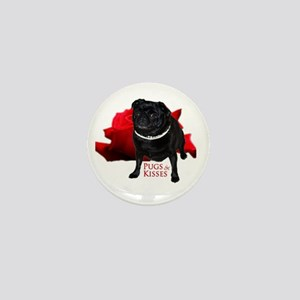 Pugs and Kisses Mini Button