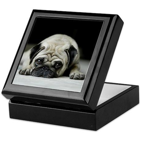 Sad Pug Keepsake Box