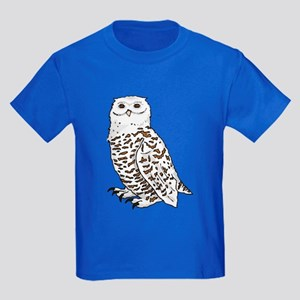 Snowy Owl Kids Dark T-Shirt