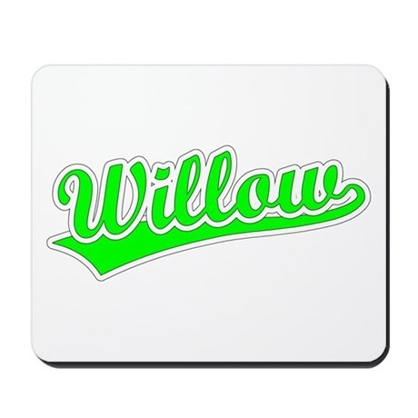 Retro Willow (Green) Mousepad