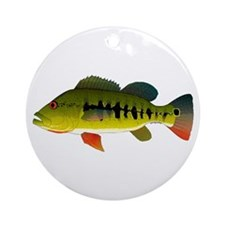 Royal Peacock Bass Round Ornament