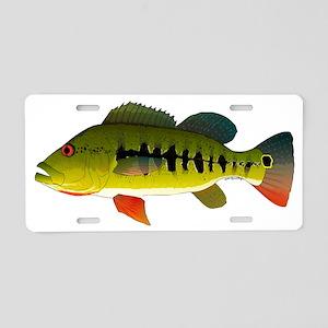Royal Peacock Bass Aluminum License Plate