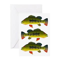 Royal Peacock Bass Greeting Cards