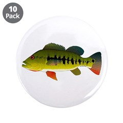 "Royal Peacock Bass 3.5"" Button (10 Pack)"