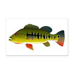 Royal Peacock Bass Rectangle Car Magnet