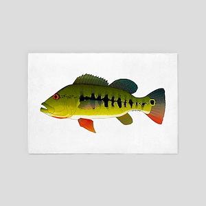 Royal Peacock Bass 4' x 6' Rug