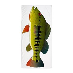 Royal Peacock Bass Beach Towel