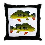 Royal Peacock Bass Throw Pillow