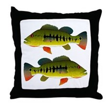 Royal Peacock Bass Throw Pillow
