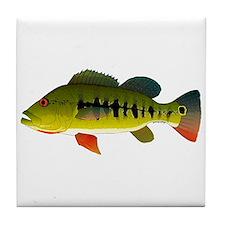 Royal Peacock Bass Tile Coaster