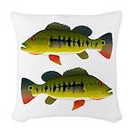 Royal Peacock Bass Woven Throw Pillow