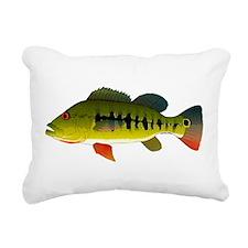 Royal Peacock Bass Rectangular Canvas Pillow