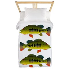 Royal Peacock Bass Twin Duvet Cover