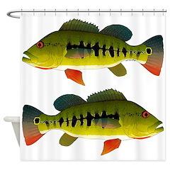 Royal Peacock Bass Shower Curtain