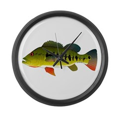 Royal Peacock Bass Large Wall Clock