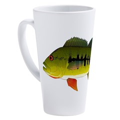 Royal Peacock Bass 17 oz Latte Mug