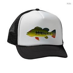 Royal Peacock Bass Kids Trucker hat