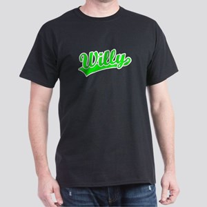 Retro Willy (Green) Dark T-Shirt