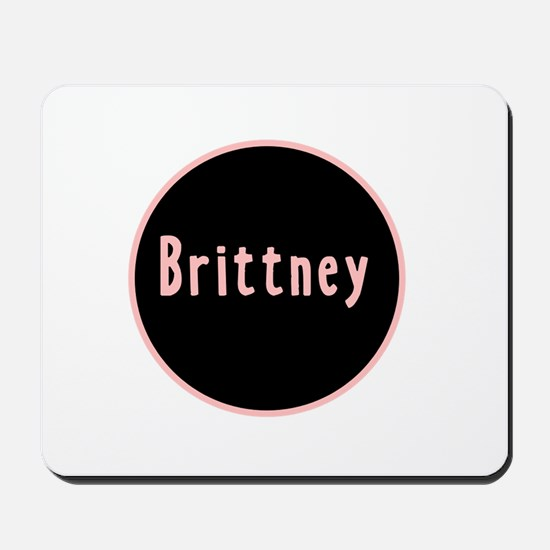 Brittney - Pink Circle Mousepad