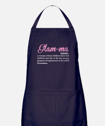 Glamma called Grandma Apron (dark)