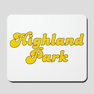 Retro Highland Park (Gold) Mousepad