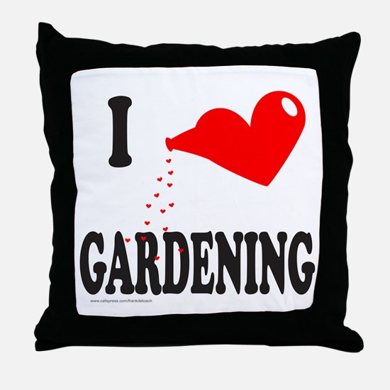 I HEART GARDENING Throw Pillow