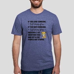 Get a Cat Mens Tri-blend T-Shirt