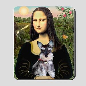 Mona Lisa's Schnauzer Puppy Mousepad