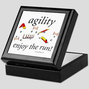 Agility - Enjoy the Run! Keepsake Box