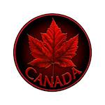 "Canada Maple Leaf Souvenir 3.5"" Button"