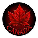 Canada Maple Leaf Souvenir Round Car Magnet