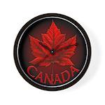 Canada Maple Leaf Souvenir Wall Clock