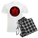 Canada Maple Leaf Souvenir Men's Light Pajamas