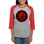 Canada Maple Leaf Souvenir Womens Baseball Tee